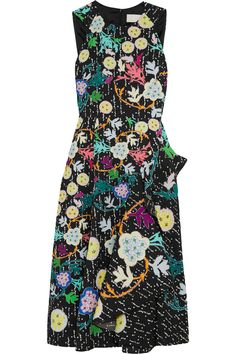 PETER PILOTTO Printed Cloqué Midi Dress. #peterpilotto #cloth #dress