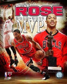 Derrick Rose - Chicago Bulls 2010-11 NBA MVP - 8x10 Photo $4.95
