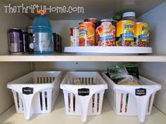 *The Thrifty Home: Deep Pantry Organization Bins from walmart $2.50