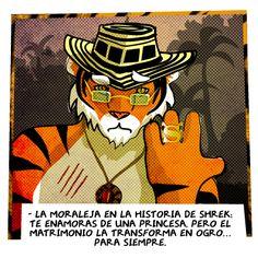LA MORALEJA DE SHREK   #Tigre #Princesa #Ogro #Matrimonio