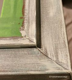 I came up with my own method of painting a composite/plastic mirror frame to look like just like wood, using chalk paint. The frame was initially black and ine… Chalk Paint Mirror, Using Chalk Paint, Mirror Painting, Painting Frames, Painting On Wood, Painting Plastic Furniture, Diy Painting, Painting Walls, Paint Furniture
