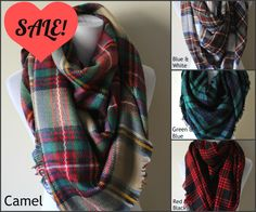 PRE ORDER Blanket Scarf Oversized Plaid | Zara Scarf Blogger | Cashmere Like Feel | Tartan Blanket Scarf | Gifts for Her (13.00 USD) by TheFeatheredGypsies