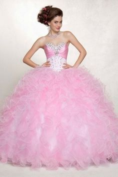 Customize your own perfect New Arrival Quinceanera Dresses Pink Ball Gown Sweetheart Sleeveless Floor length PB1KHXDJ affordable from us that will fit any qinceanera party.