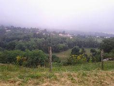 Les Monts d'Or sous les nuages et la pluie, Rhône