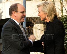 Prince Albert of Monaco with Princess Astrid of Austria-Este (nee Belgium) 1/24/2014