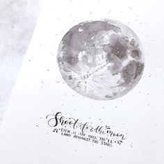Shoot for the moon.  #moon #shootforthemoon #watercolormoon #moonprint #fullmoon #moonquote #dailyquotes #brightnightlights #galaxylettering #galaxyprint #lettering #letterart #handlettering #brushlettering #brushtype #dippen #pointedpen #brauseef66 #ecoline #calligraphy #moderncalligraphy #handwritten #handtype #watercolorlettering #watercolor #diy #handmade #print #letteringco #artprint Watercolor Moon, Watercolor Lettering, Brush Lettering, Hand Lettering, Moon Moon, Full Moon, Moon Quotes, Brush Type, Dip Pen