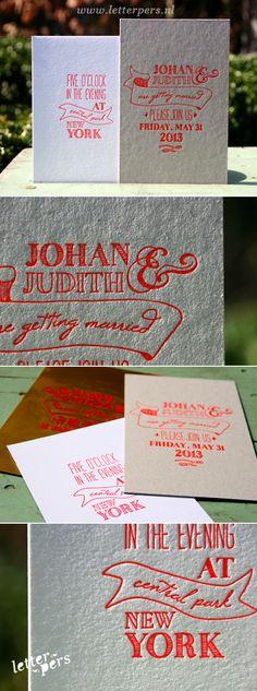 letterpers_letterpress_trouwkaart_Judith_Johan_karton_hand_getekend_fluor_neon_oranje