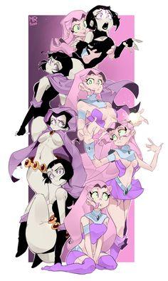 Teen Titans,Юные Титаны,DC Comics,DC Universe, Вселенная ДиСи,фэндомы,Raven (DC),Ворона, Рэйвен, Рэйчел Рот,Starfire,Старфаер, Корианд'р,Psina,artist