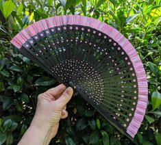 Your place to buy and sell all things handmade Painted Fan, Hand Painted, Carved Wood, Wood Carving, Hand Fan, Garden Tools, Printing On Fabric, My Design, Spanish
