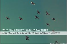Why You Cannot Hold My Daughter // Thoughts on supporting adoptive families and attachment parenting #adoption #attachment