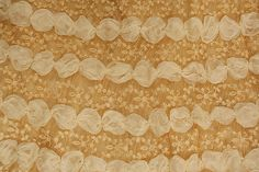 Wedding Dress, fabric detail. House of Worth (French, 1858–1956). Date: 1905. Culture: French. Medium: silk, wax, cotton. Dimensions: Length at CB (a): 17 3/4 in. (45.1 cm). Length at CB (b): 92 1/2 in. (235 cm).