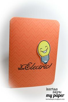 Cute Light Bulb card.