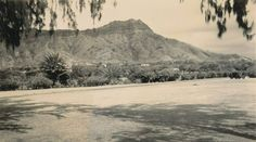 1937 View Of Diamond Head.    Mahalo To:  Vintage Hawaiʻi