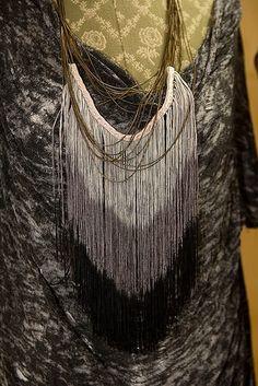 Fringe necklace DIY. Love.