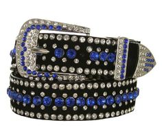 Ladies Western Rhinestone Bling Cowgirl Leather Belt - http://www.styledetails.com/ladies-western-rhinestone-bling-cowgirl-leather-belt - http://ecx.images-amazon.com/images/I/517kBC0WeZL.jpg
