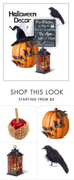 """""""Halloween Decor"""" by patricia-dimmick ❤ liked on Polyvore featuring interior, interiors, interior design, home, home decor, interior decorating, Improvements, National Tree Company, Halloween and halloweendecor"""