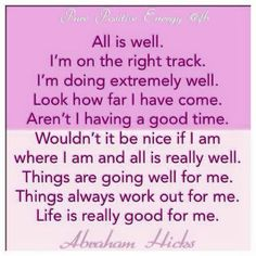 I am where I am & all is really well xxx
