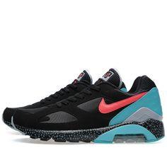 best sneakers 1b6a6 99359 Nike Air Max 180 Black   Laser Crimson