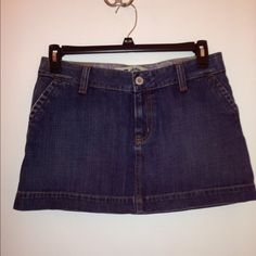 GAP Sexy Mini Jean Skirt. Sz 8 This denim skirt can be sexy or cute. Great back pocket button detail. Timeless style. Worn only a few times. Sz 8 GAP Skirts