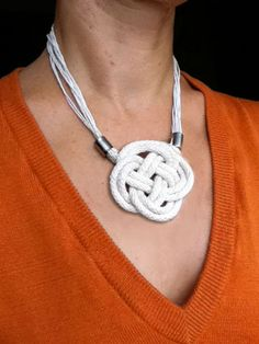 """Since I love that navy nautical knot necklace in my """"here's a DIY version..."""
