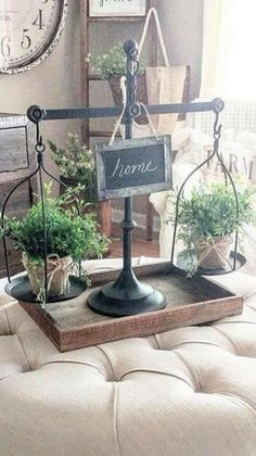 Home Decoration Ideas Decor .Home Decoration Ideas Decor French Country Living Room, Country Farmhouse Decor, Farmhouse Chic, Farmhouse Design, Table Centerpieces, Table Decorations, Decorating Coffee Tables, Tray Decor, Home Living Room