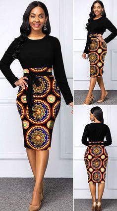 African Print Skirt, Tribal Print Dress, African Print Dresses, African Print Fashion, Tribal Prints, Short African Dresses, Latest African Fashion Dresses, Bodycon Dress Outfit, Outfits Dress