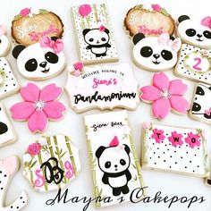"""""""Because I could watch you for a single minute and find a thousand things I love about you. Panda Themed Party, Panda Birthday Party, Panda Party, Bear Party, Birthday Cookies, First Birthday Parties, Birthday Party Themes, First Birthdays, Bolo Panda"""