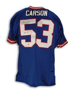82f671d0d Autographed Harry Carson New York Giants Blue Throwback Jersey inscribed