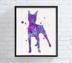 Miniature Pinscher Wall Art Min Pin Art Print by MiaoMiaoDesign