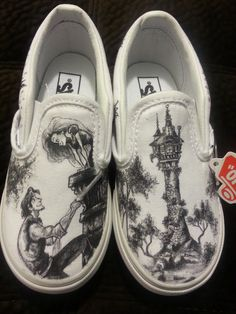 42aace7b31 WRAPAROUND Disney s Tangled Custom Made Shoes in YOUTH size. Artwork and  Shoes (Vans) INCLUDED