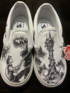 WRAPAROUND Disney's Tangled Custom Made Shoes in by BRINKADINK - Wow!!!!