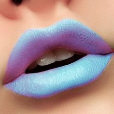 Who's brave enough to wear this bold blue hue? Einat R's ice Queen ombre lips will surely chase away your blues. Shop the look here.