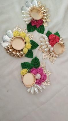 Sukhicreation Diwali Decoration Items, Thali Decoration Ideas, Handmade Decorations, Flower Decorations, Diwali Candle Holders, Diwali Candles, Candle Holder Decor, Diwali Diya, Diwali Craft