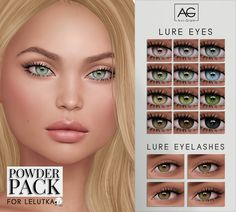 Lure Eyes & Lashes for Powder Pack - Lelutka (August) Sims Four, Sims 4 Mm, Vêtement Harris Tweed, Sims 4 Cc Eyes, The Sims 4 Skin, Sims 4 Mods Clothes, Muebles Sims 4 Cc, The Sims 4 Cabelos, Casas The Sims 4