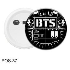 BTS Kpop Pin Button Badge (Matt Surface) ❤ liked on Polyvore featuring jewelry, brooches, button brooch, antique jewellery, pin brooch, antique jewelry and button jewelry