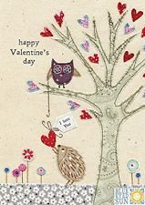 Hedgehog and Owl Valentine's Day Card by Blue Eyed Sun