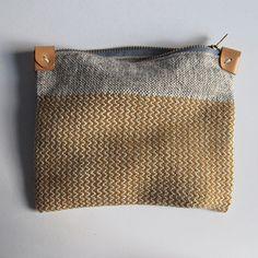 Image of Handwoven Zipper Pouch - Medium - No. 1- Anntorian