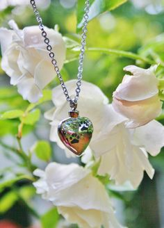 """Silver Paw Print Cremation Pendant NECKLACE Holds Pet Cat Dog Ashes Stainless Steel Heart Chain In Memory of Beloved Pets Loss Urn Loved 18"""""""