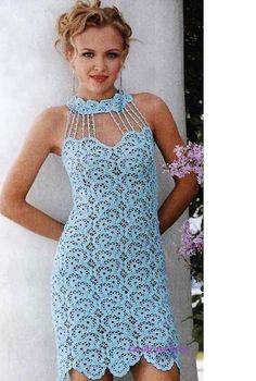 Crochet Pattern LADIES CROCHET Dress Charted only by carolrosa