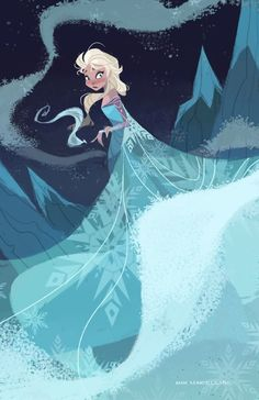 Do not listen to the Frozen soundtrack while you are working, you will pass out and next thing you know you drew another Elsa fanart. Disney Magic, Frozen Disney, Disney Concept Art, Disney Kunst, Disney Fan Art, Disney Love, Elsa Frozen, Frozen Queen, Disney Stuff