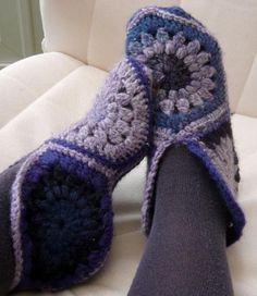 Hexagon slippers: free pattern