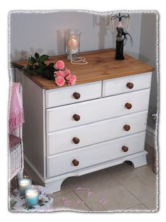 Shaker Style Shabby Chest of Drawers www.chicmouldings.com