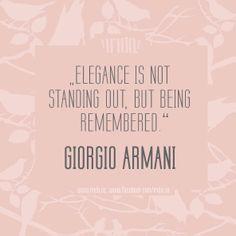 Girgio Armani quote