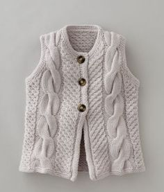 tentenknits: Fall Knit Inspiration...great vest, no pattern
