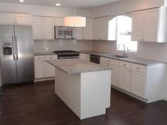 White Kitchen Cabinets | Shaker Cabinets | CliqStudios contemporary kitchen , my layout minus the island