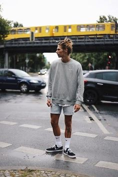 Richy Koll Nike Sneakers, Nike Socks, Urban Outfitters Shorts, Nike Sweatshirt, Lifestyle Fashionweek berlin > www richywho com is part of Hipster mens fashion -