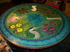 Hand Painted Table Top For The Home Pinterest Tops Paint Furniture And Tables