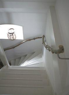 Rambarde d'escalier en bois flotté.
