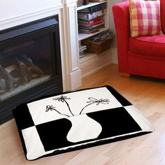 Minimalist Flower in Vase 4 Indoor/Outdoor Pet Bed