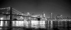 30284684_ G / Cuadro Puente de Brooklyn, Nueva York, NY b/n